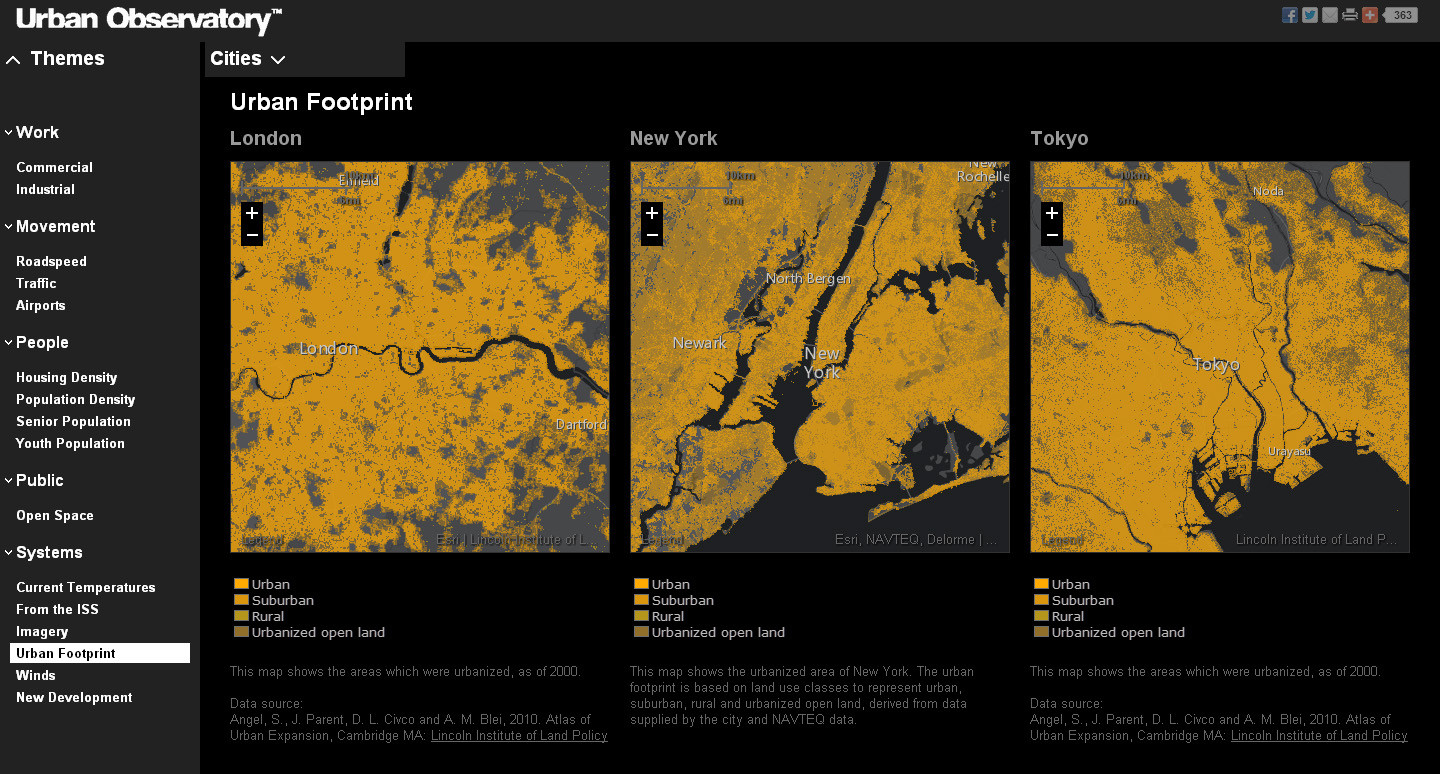 Urban Footprint © The Urban Observatory
