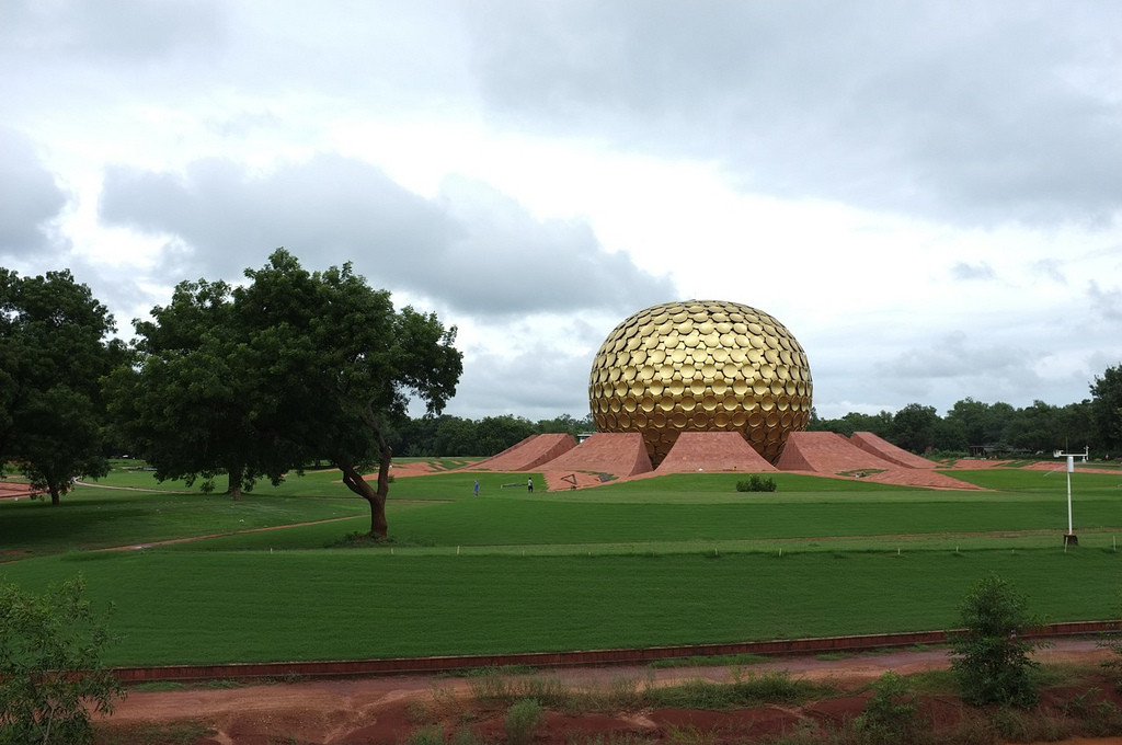 The Meditation Center in Auroville. Image © Aleksandr Zykov via Flickr. Used under <a href='https://creativecommons.org/licenses/by-sa/2.0/'>Creative Commons</a>