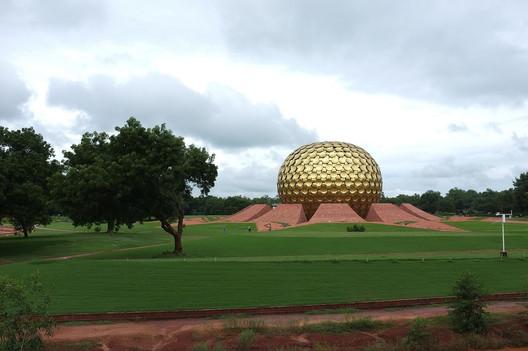 The Meditation Center in Auroville. Image © Aleksandr Zykov via Flickr