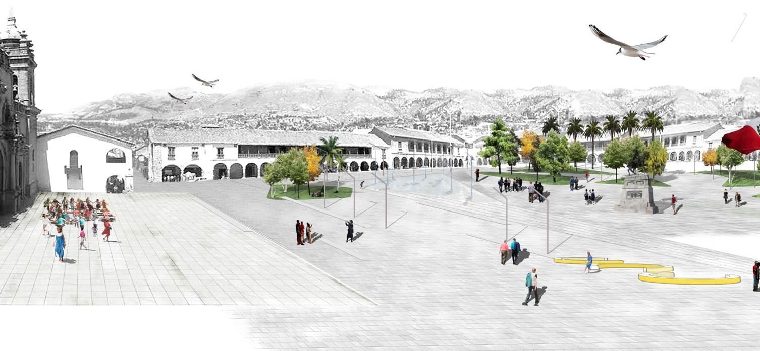 Concurso Plaza Mayor y eje turístico cultural Centro Histórico de Huamanga2. (Huamanga,Perú – 2012) / Aldo Facho Dede – Javier Cortina – Cristina Cucinella