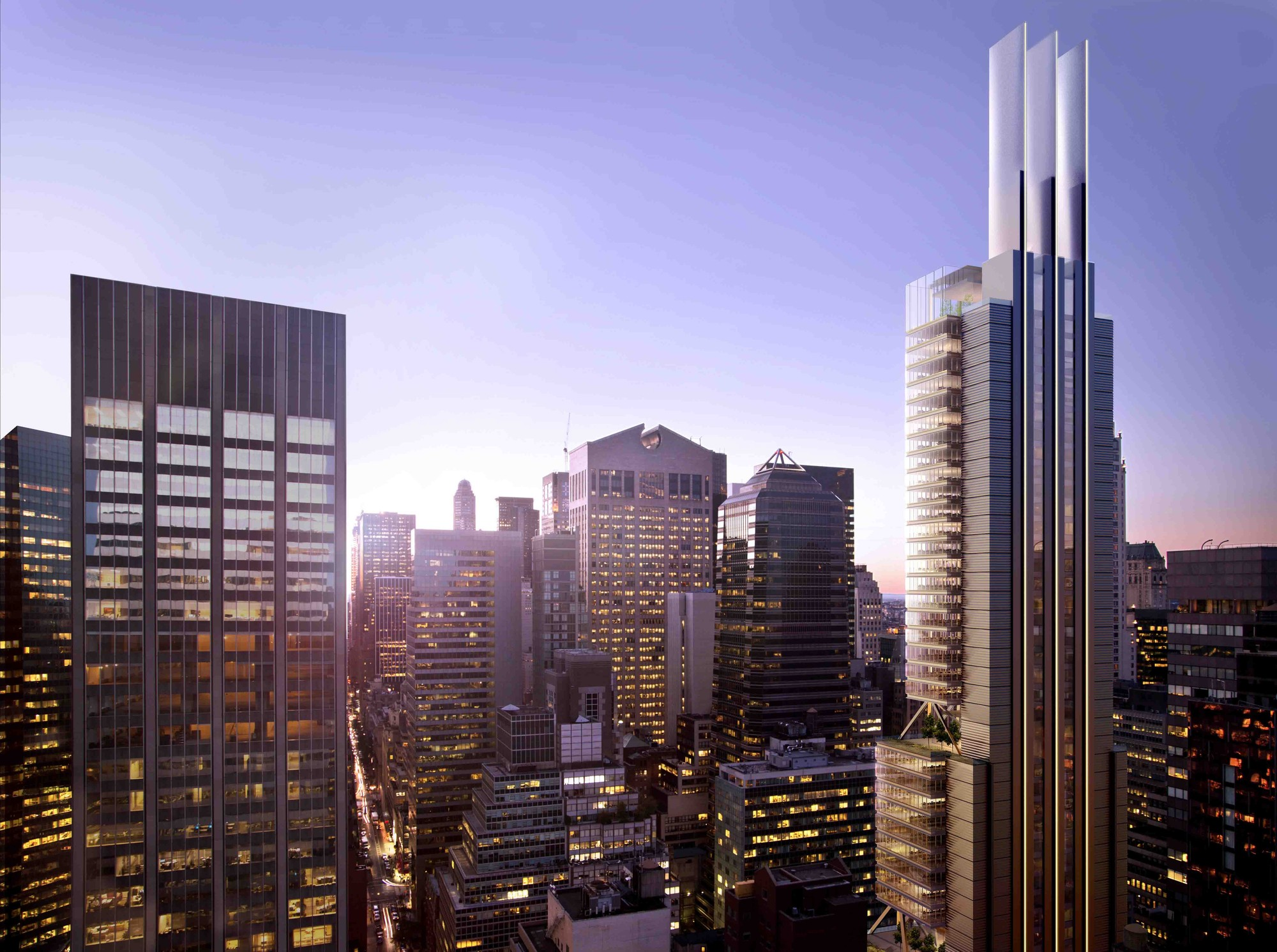Foster + Partners recently announced a design for 425 Park Avenue. Image Courtesy of Foster + Partners