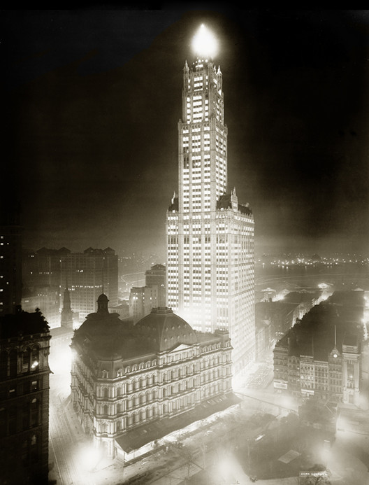 The Woolworth Building in 1913, when it was tallest in the world. Library of Congress