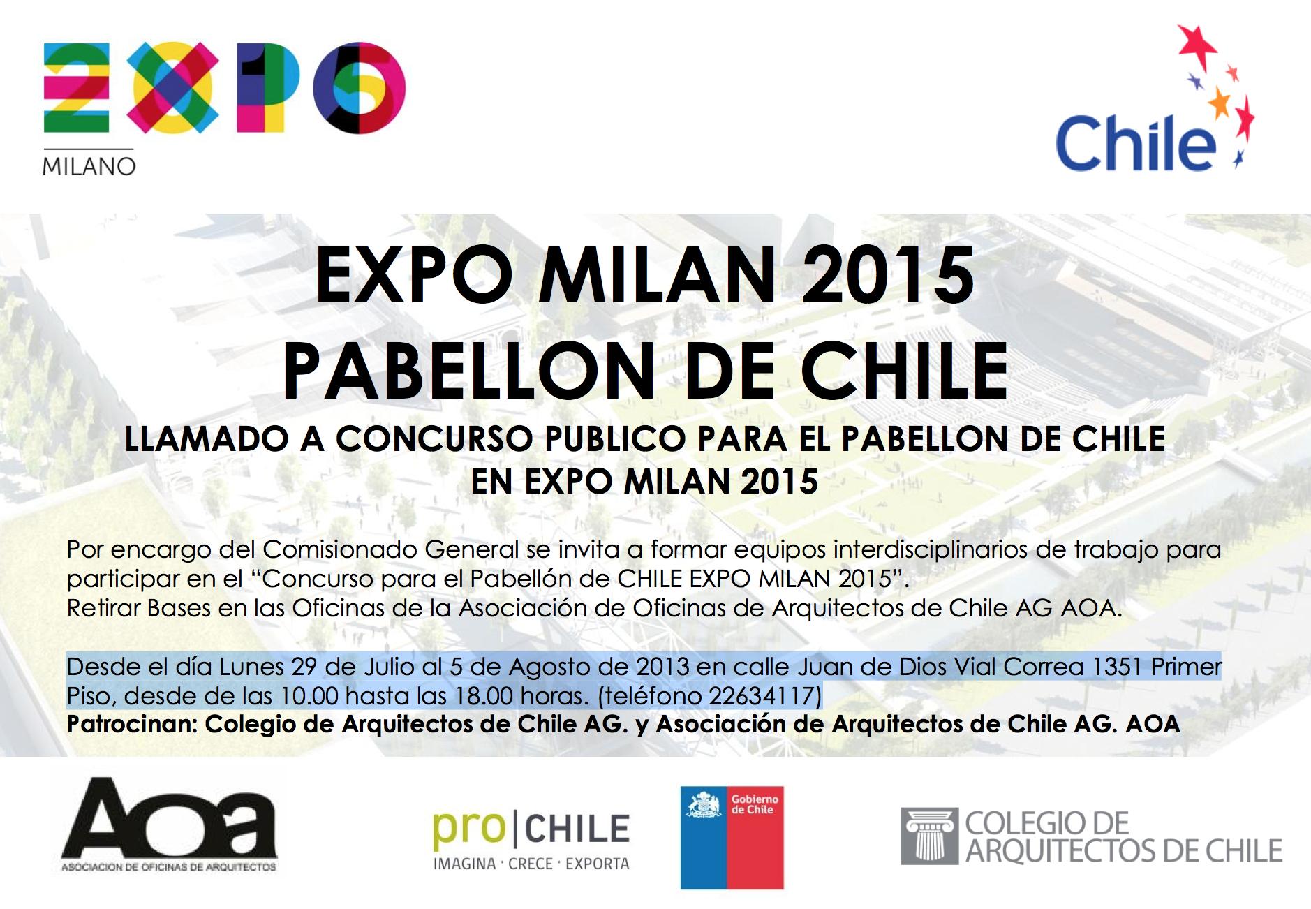 Concurso Pabellón de Chile para la Expo Milán 2015