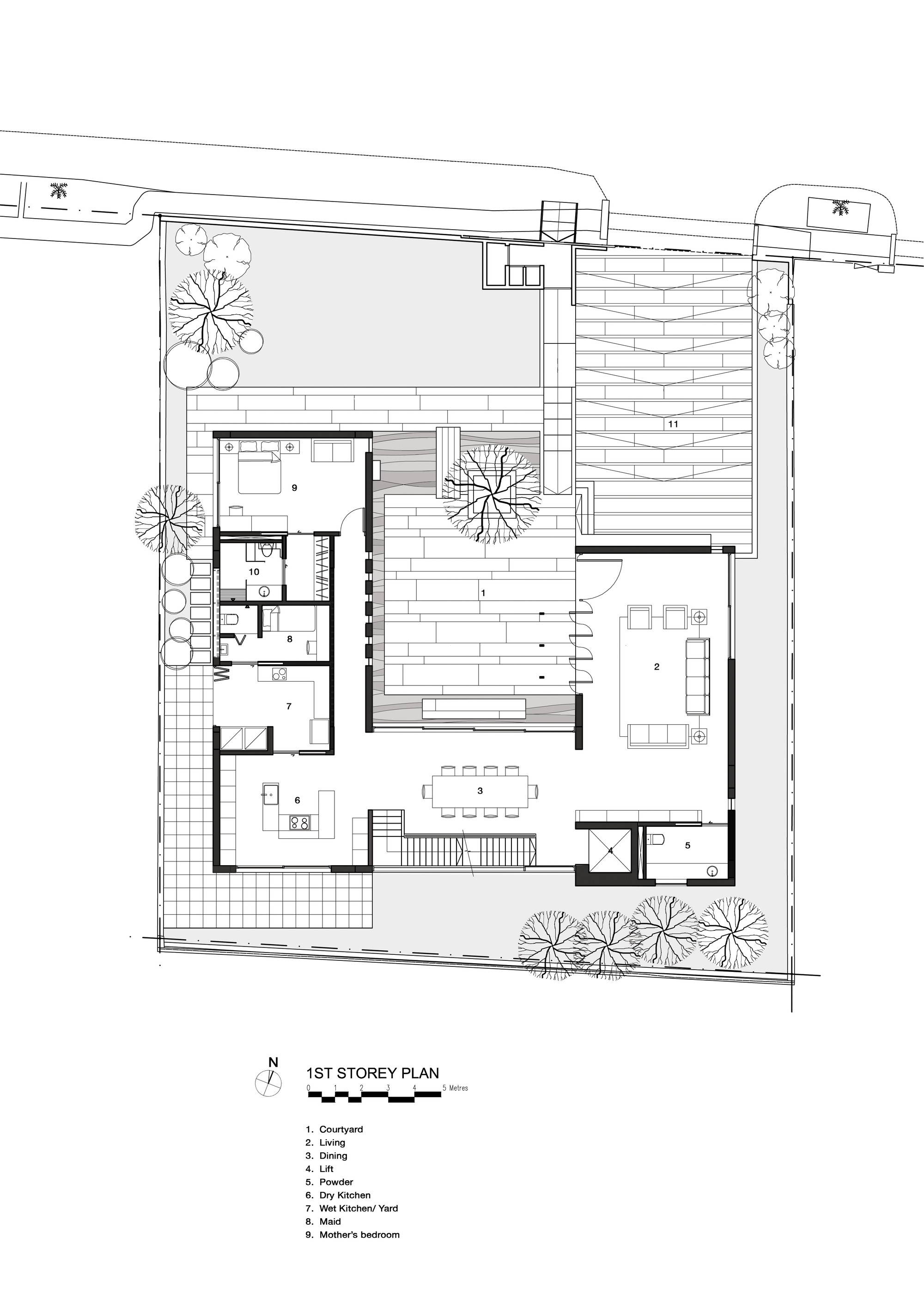 1000 images about courtyard home plans on pinterest for Home plans with courtyards