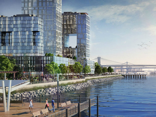 Bloomberg Moves Forward with Controversial Seaport City, Courtesy of NYC Mayor's Office