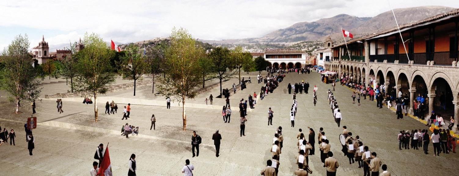 Concurso Plaza Mayor y eje turístico cultural Centro Histórico de Huamanga,  (Huamanga, Perú – 2012) / Elizabeth Añaños Vega