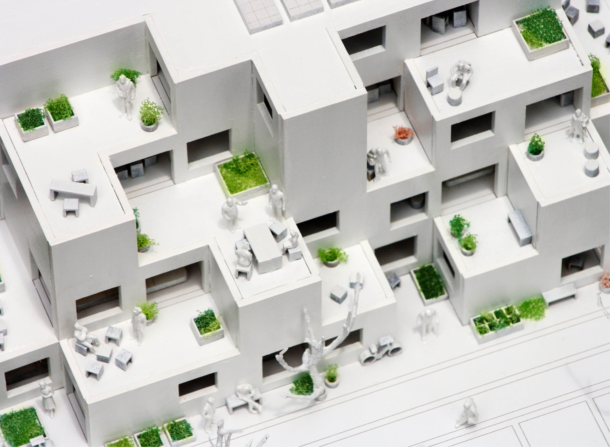 Gallery of alvenaria social housing competition entry fala atelier 11 - Social life in small urban spaces model ...