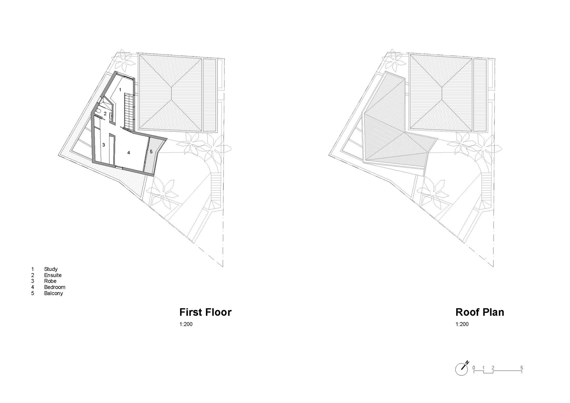 First & Roof Floor Plan