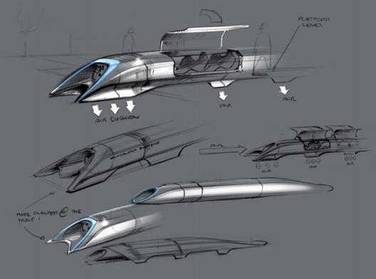 "Details Unveiled for Elon Musk's California, Solar-Powered ""Hyperloop"", Courtesy of Elon Musk"