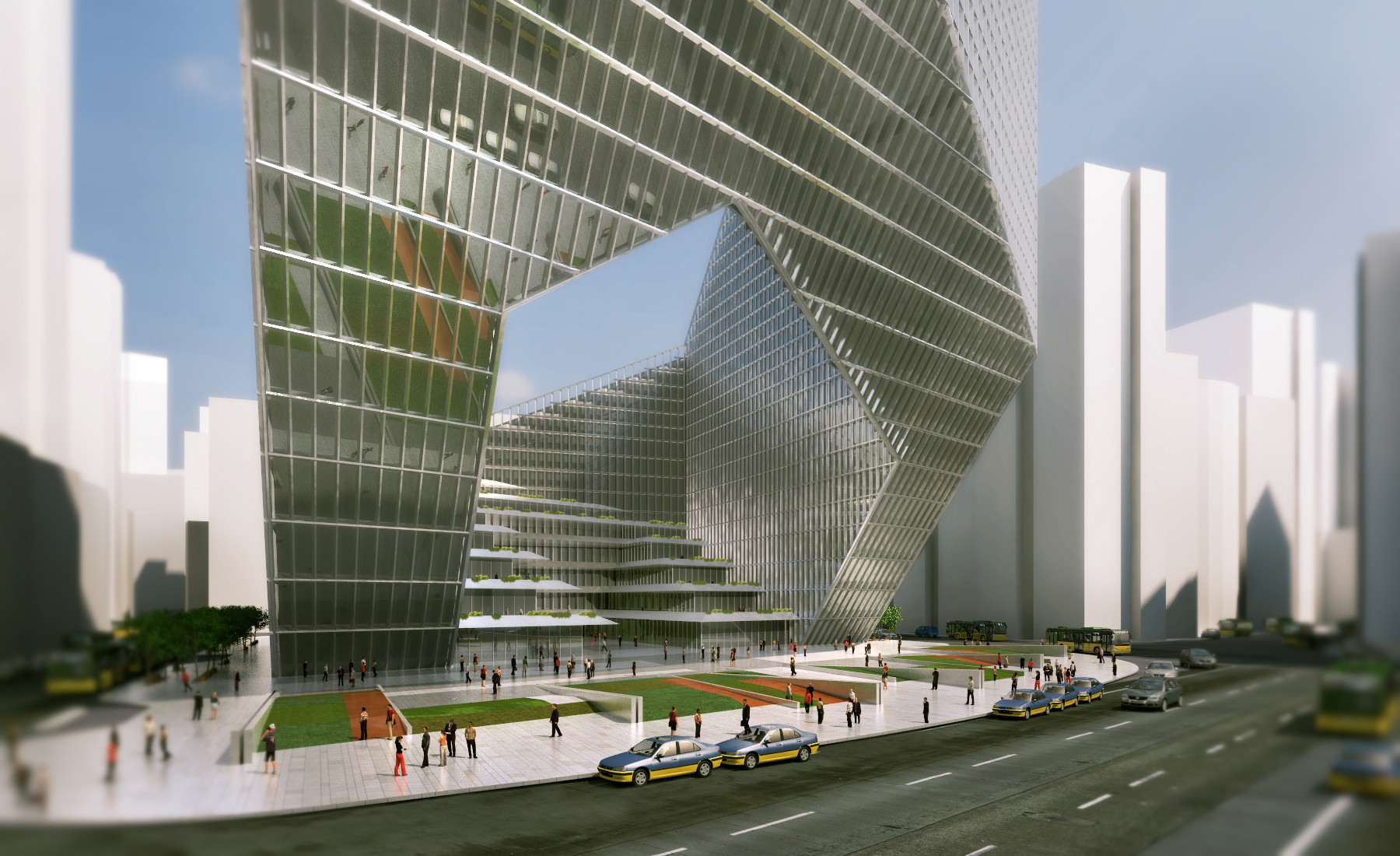 Mixed Use Tower Winning Proposal / DOS Architects, Courtesy of DOS Architects