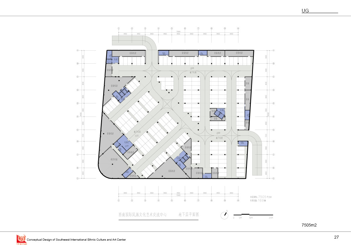 underground floor plan. Image Courtesy of Tongji Architectural Design and Research Institute