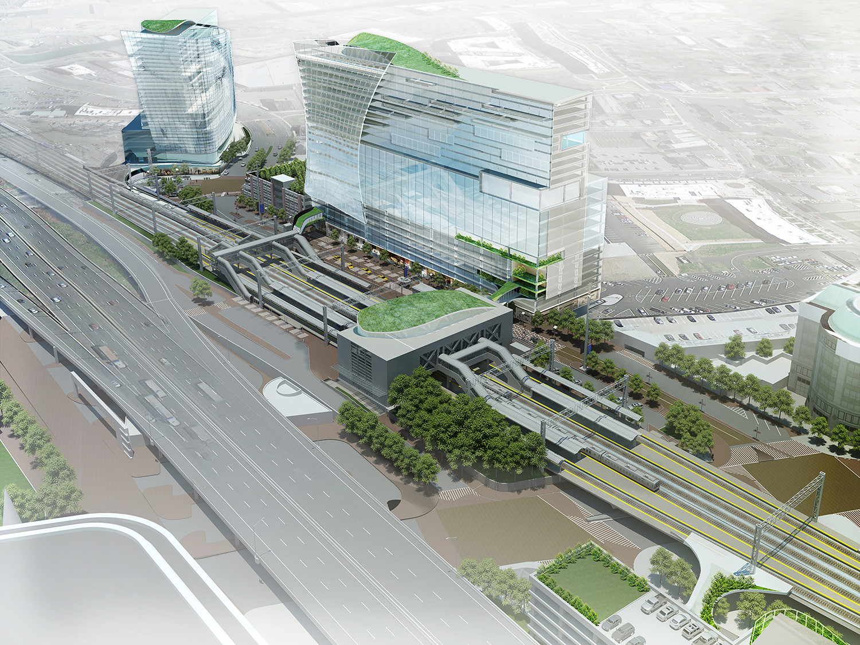 Galeria de centro de transportes de stamford proposta for Studio v architecture