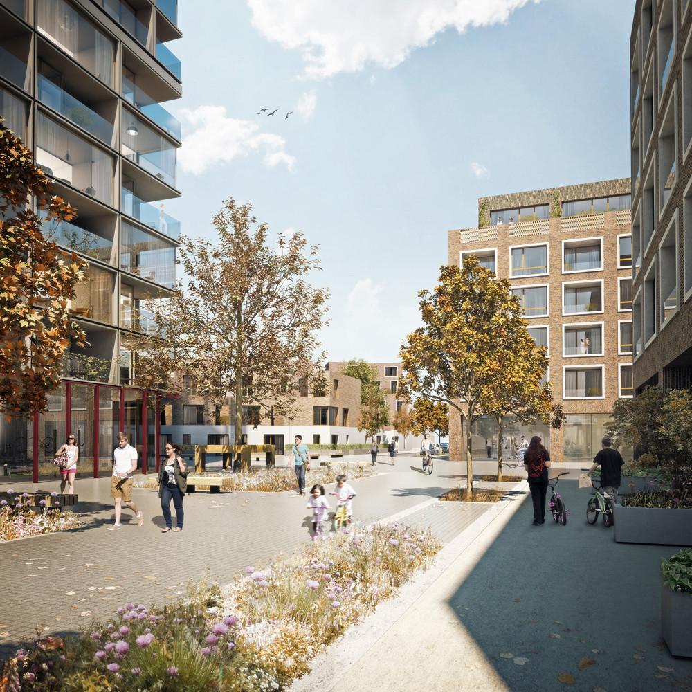 Agar Grove Estate Redevelopment Proposal / Hawkins\Brown, © Forbes Massie