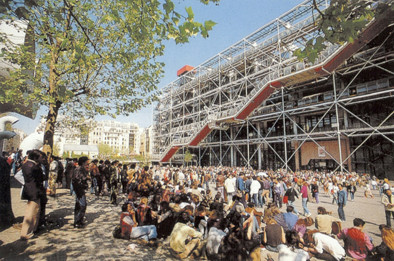 Espaço de visibilidade generalizada. Centro Nacional de Arte e Cultura Georges Pompidou (Paris). Rogers/ Piano, 1977. Imagem Cortesia de Enrique Mínguez Martínez, Pablo Martí Ciriquián, María Vera Moure