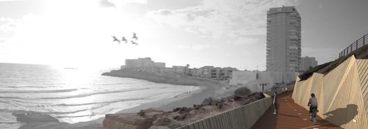 Passeio na Orla de de La Manga del Mar Menor. Murcia. E. Mínguez, 2010. Imagem Cortesia de Enrique Mínguez Martínez, Pablo Martí Ciriquián, María Vera Moure