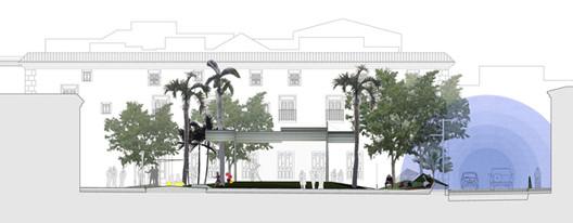 Proteção acústica. Glorieta Juan Carlos I, Mula. Murcia, E. Mínguez, 2009. Imagem Cortesia de Enrique Mínguez Martínez, Pablo Martí Ciriquián, María Vera Moure