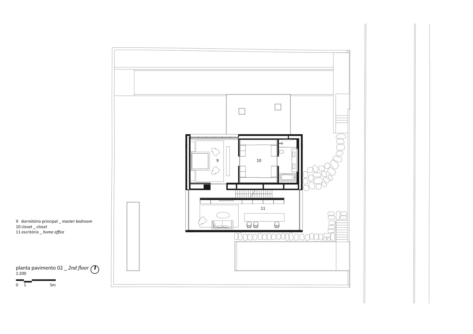 gallery of cube house studio mk27 marcio kogan suzana cube house second floor plan
