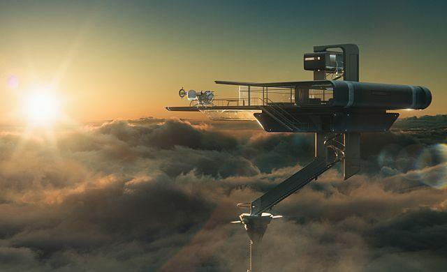 Cine y Arquitectura: Las Estructuras Futurísticas de Oblivion , Sky Tower / Oblivion (2013)