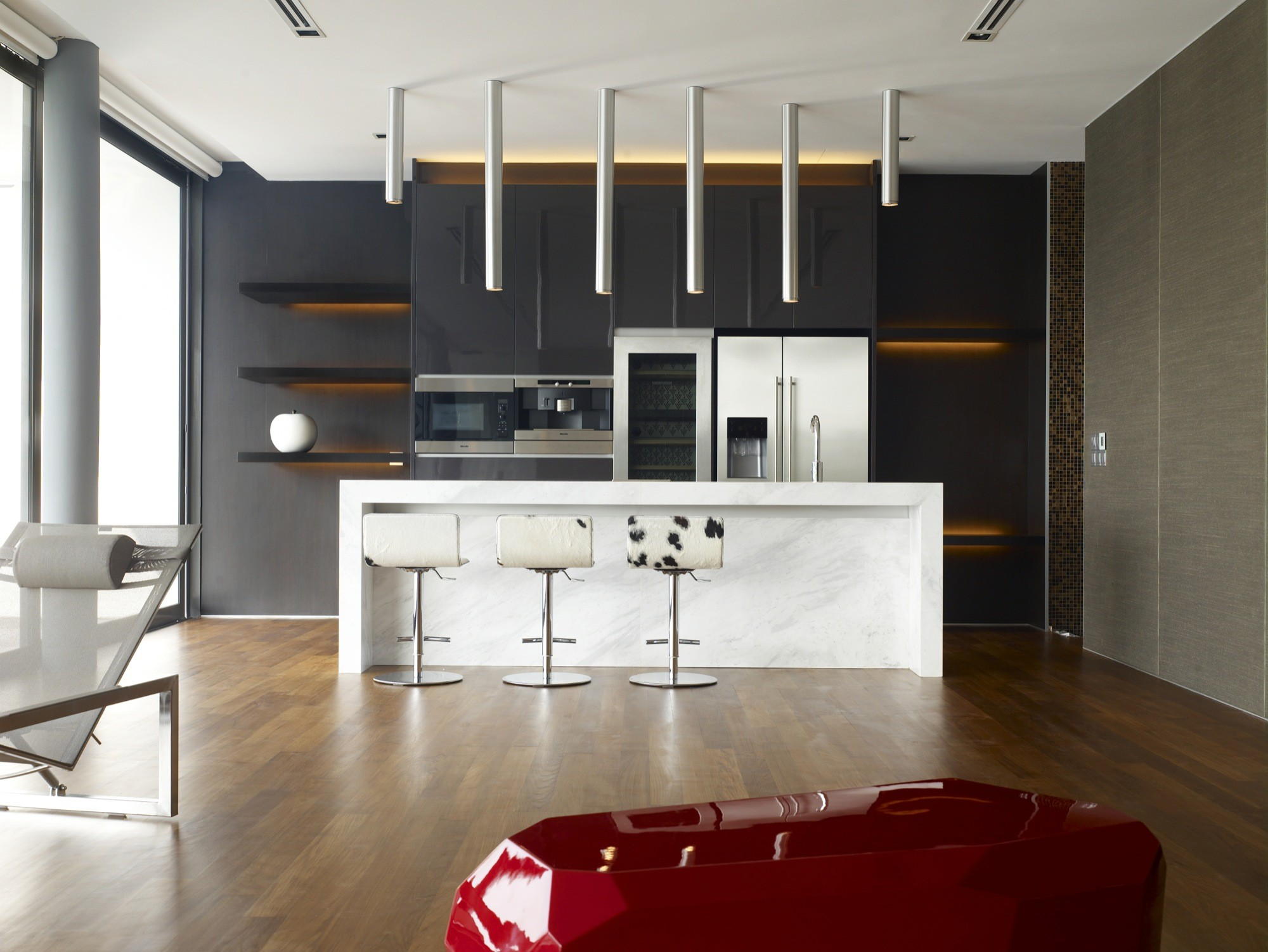 bass ensemble hyla architects kitchen bar lights Derek Swalwell