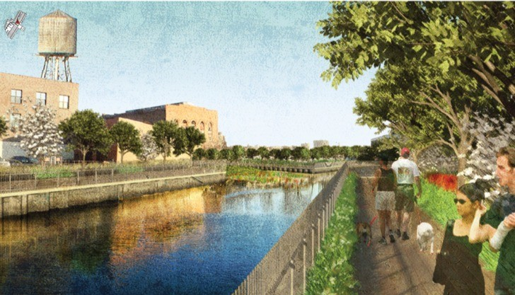 "Brooklyn to Transform Canal Into ""Sponge Park"", Courtesy of dlandstudio"
