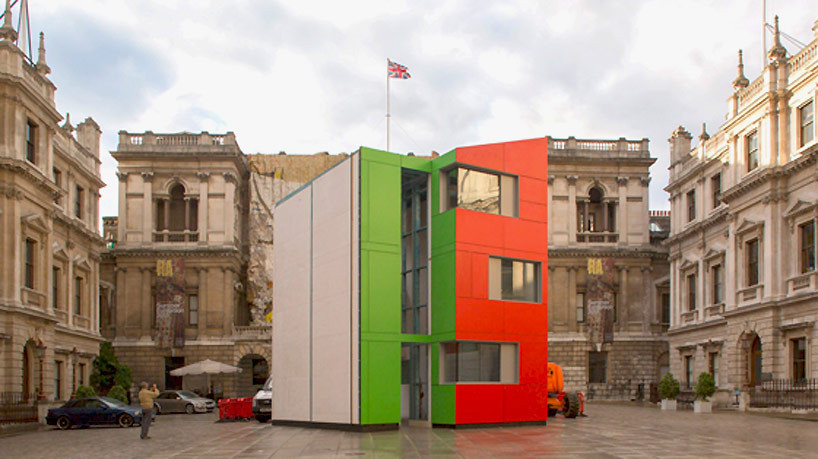 Richard Rogers revela su prototipo de vivienda prefabricada, levantado en tan sólo 24 horas, © Miguel Santa Clara, via Royal Academy of Arts