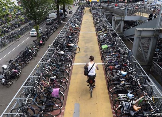 Bike parking in Amsterdam. Image © Getty Images