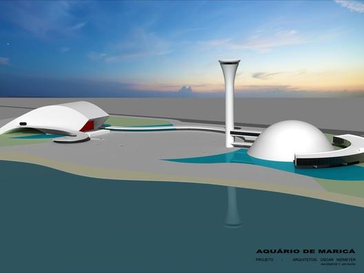 Acuario diseñado por Oscar Niemeyer se construirá en Maricá-RJ, Acuario de Maricá
