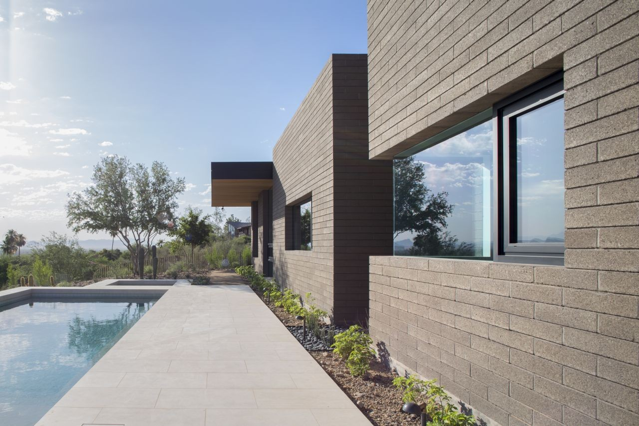 Gallery of rammed earth modern kendle design 14 for House front side wall design