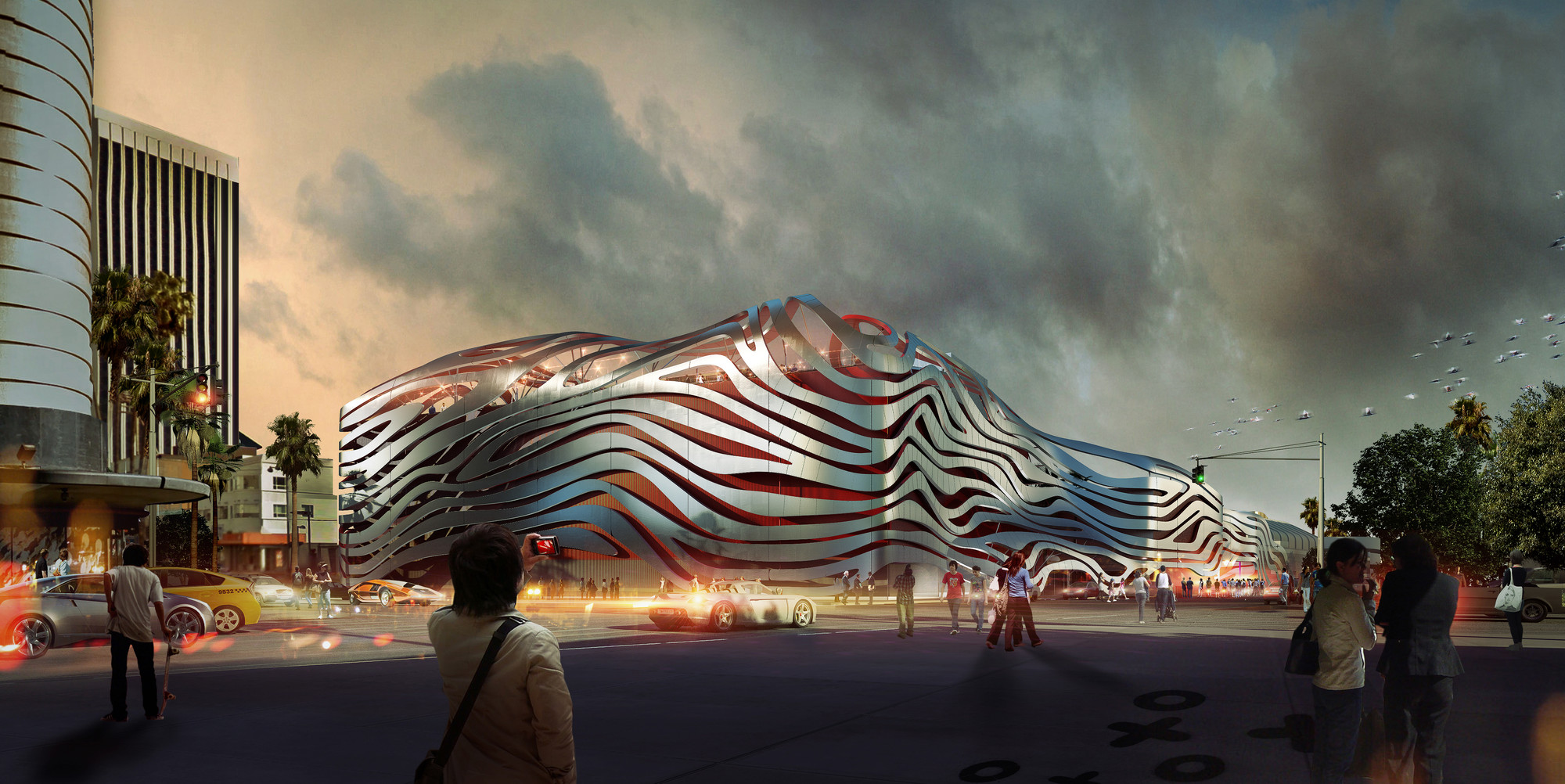 Petersen Automotive Museum Unveils Eye-Catching New Exterior by Kohn Pedersen Fox, Courtesy of Petersen Automotive Museum
