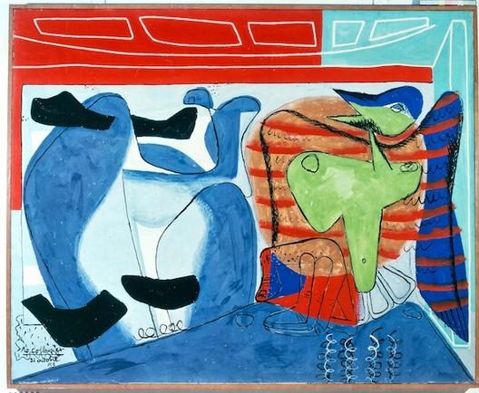 Le Corbusier and Brutalism Exhibition, I DREAMT, Le Corbusier, 1953, oil on canvas © Fondation Le Corbusier/ADAGP Paris 2013
