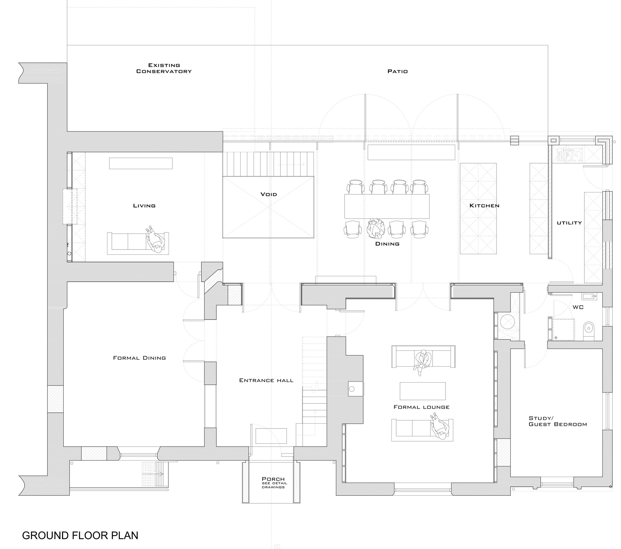 Gallery of the glass house ar design studio 14 for Glass house floor plans
