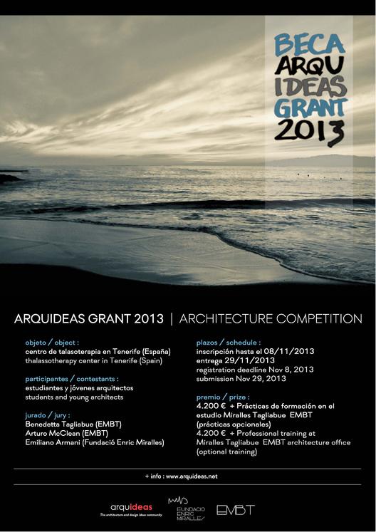 Concurso Beca Arquideas 2013 / Fundació Enric Miralles , Courtesy of Arquideas
