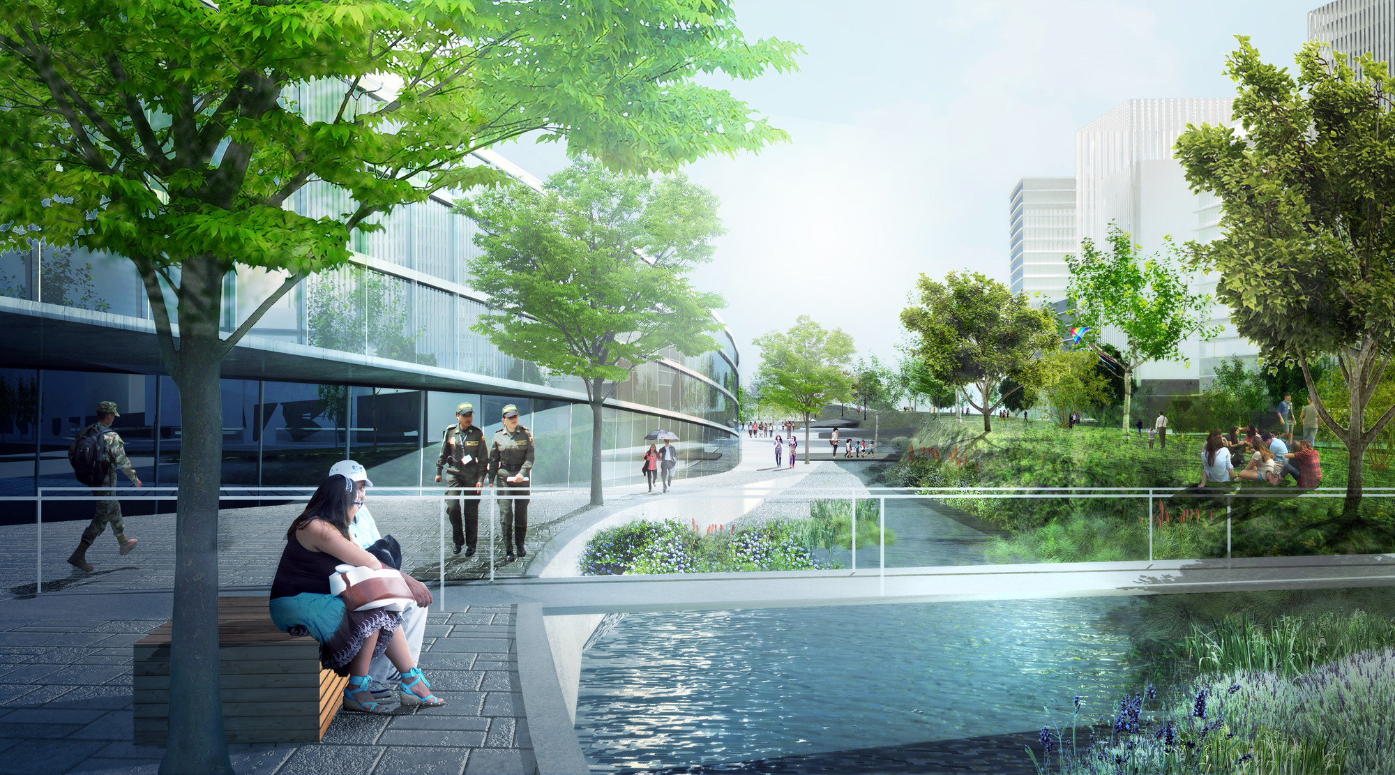 Public Space Axis © OMA