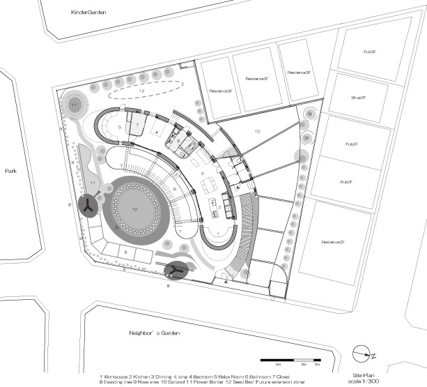 Site Plan. Gallery of Green Screen House   Hideo Kumaki Architect Office   18