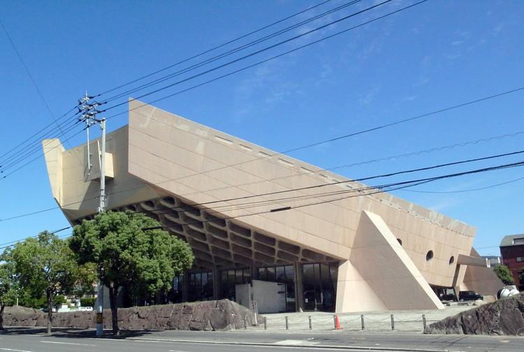 Kagawa Prefectural Gymnasium. Image © Tange Associates