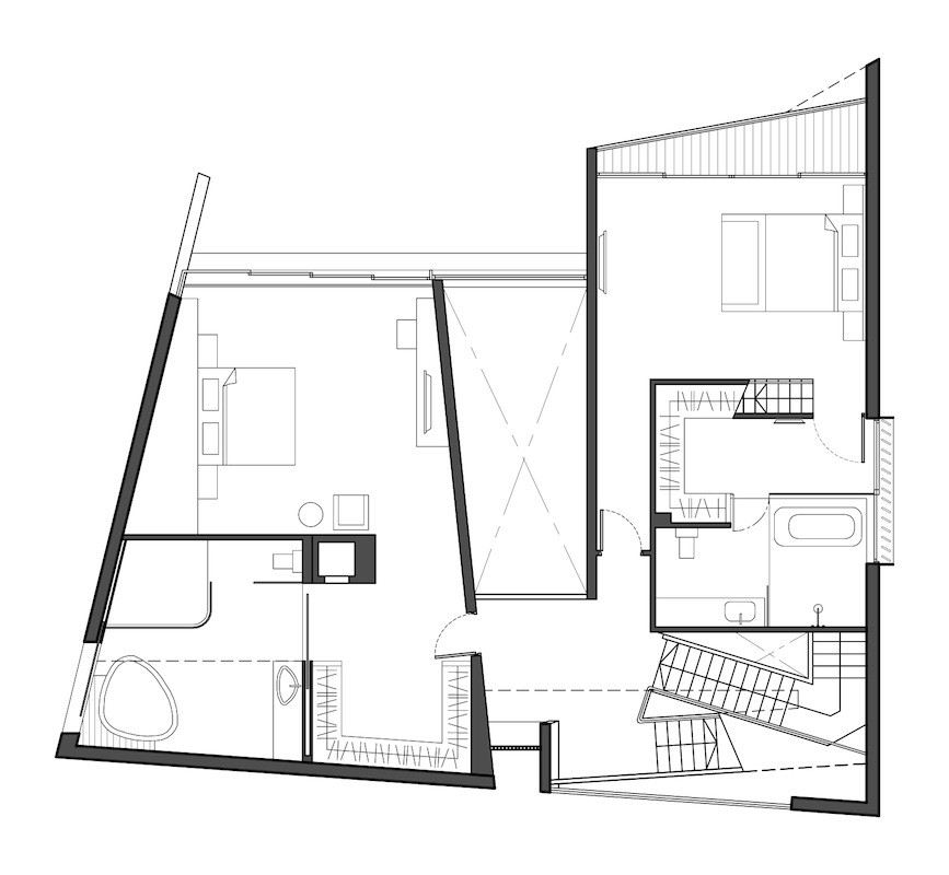 Gallery of diamond house formwerkz architects 15 for Trapezoid house design