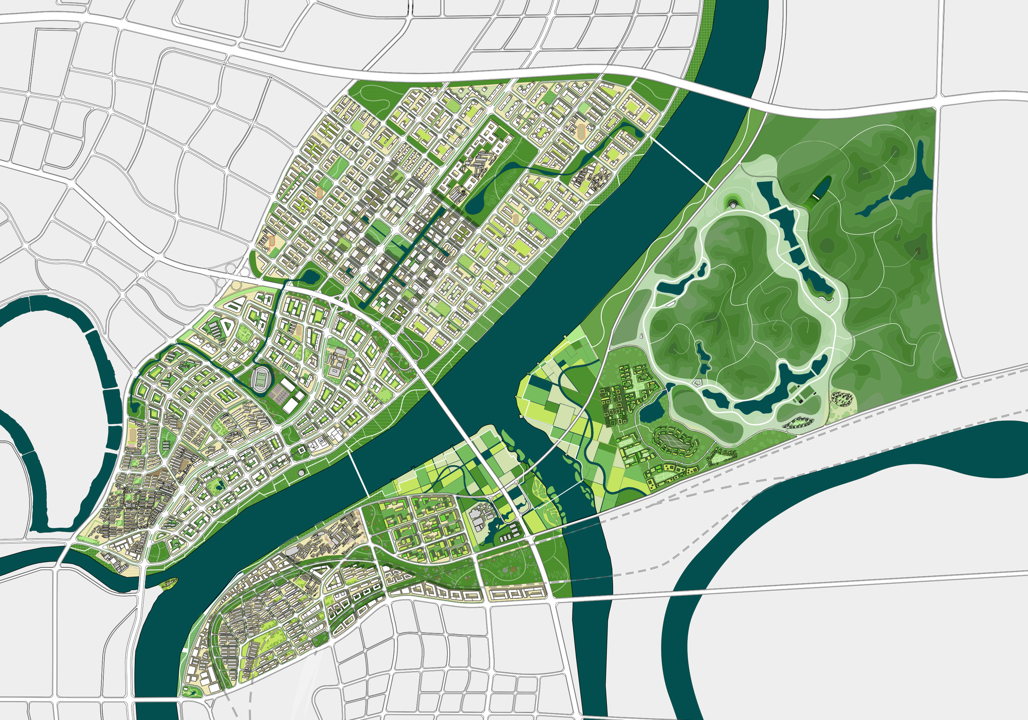 Green Loops - City Masterplan © ADEPT