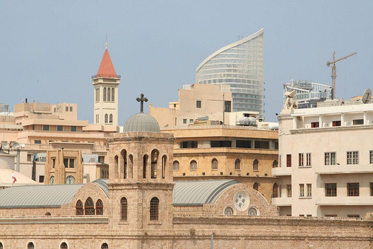 A loophole in Lebanese laws is allowing the proliferation of towers in Beirut. Image © Flickr CC User Sean Long
