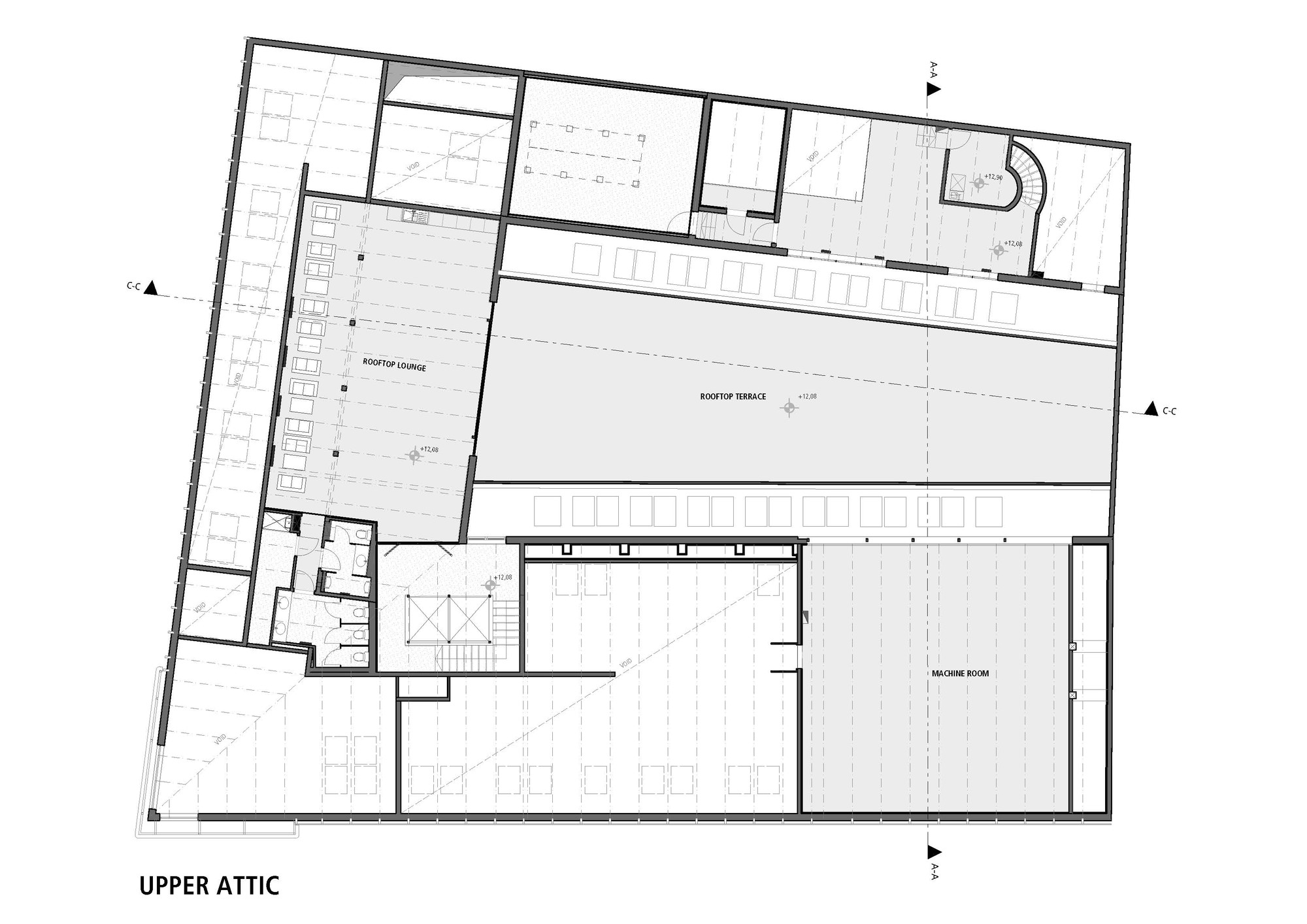 Gallery of budapest music center art1st design studio 31 for Recording studio floor plans architecture