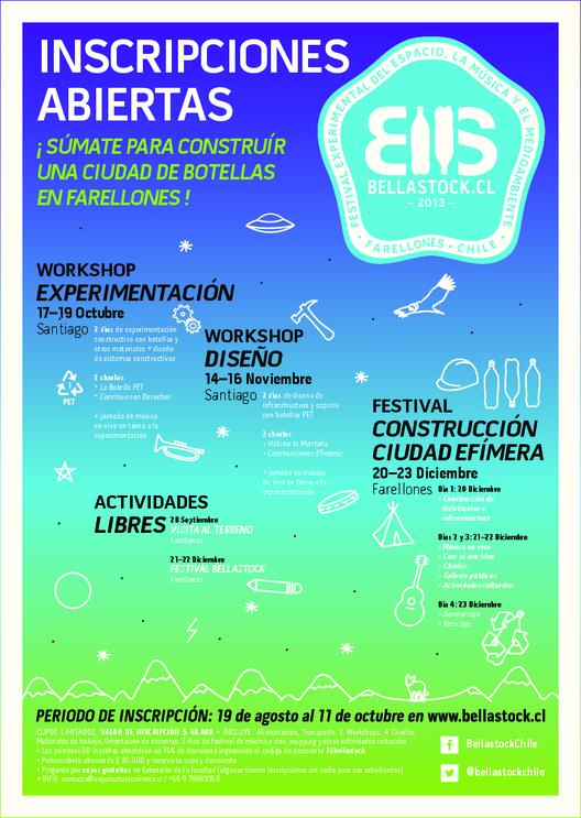 Bellastock: Inscripciones abiertas para el Primer Festival de Reciclaje en Chile / ¡Sorteamos un cupo y descuentos!