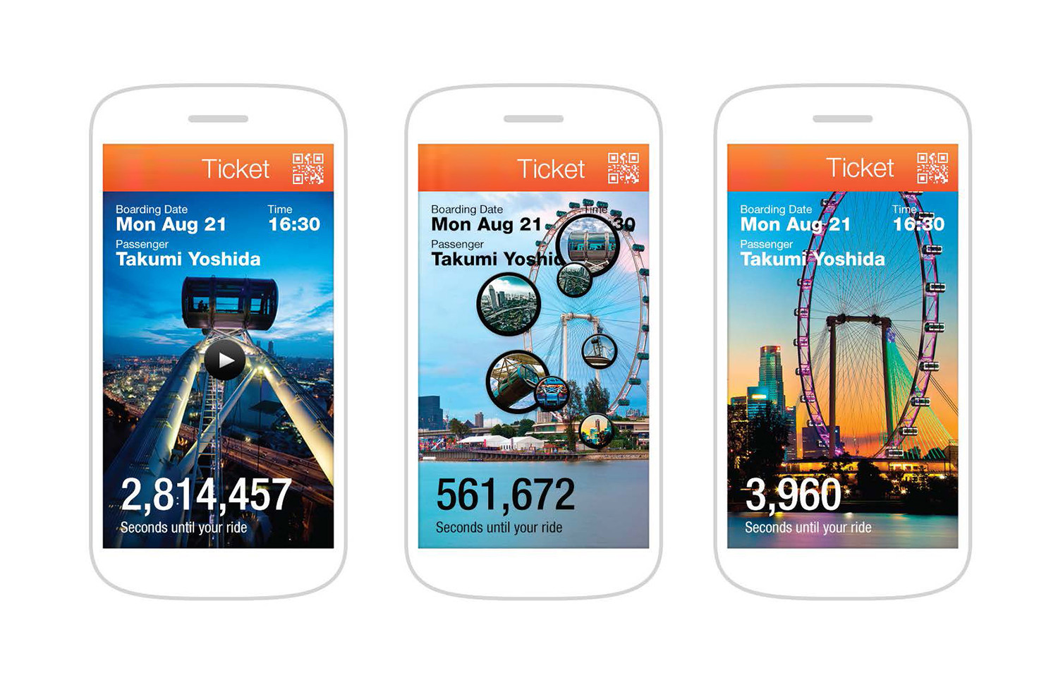 The Nippon Moon app will utilize 'active queuing,' allowing users to shop and eat while they wait for their scheduled ride time. Image Courtesy of UNStudio