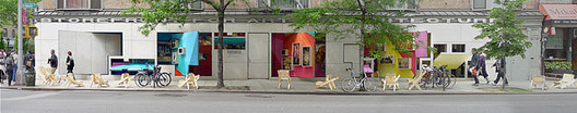 Exterior view of the Storefront for Art and Architecture in New York. Image Courtesy of Wikimedia Commons User Artandarch