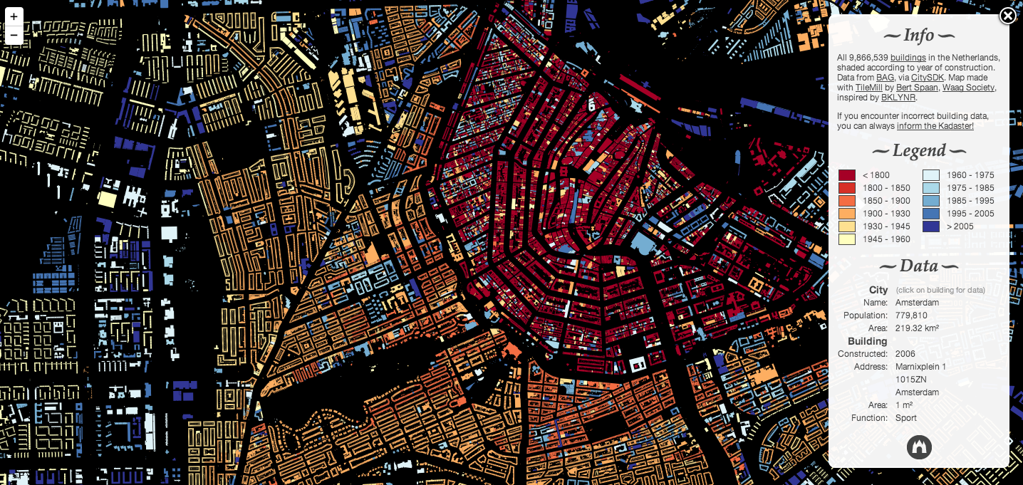Software Engineers Map All the Buildings in the Netherlands, Aerial of Amsterdam. Image Courtesy of Waag Society