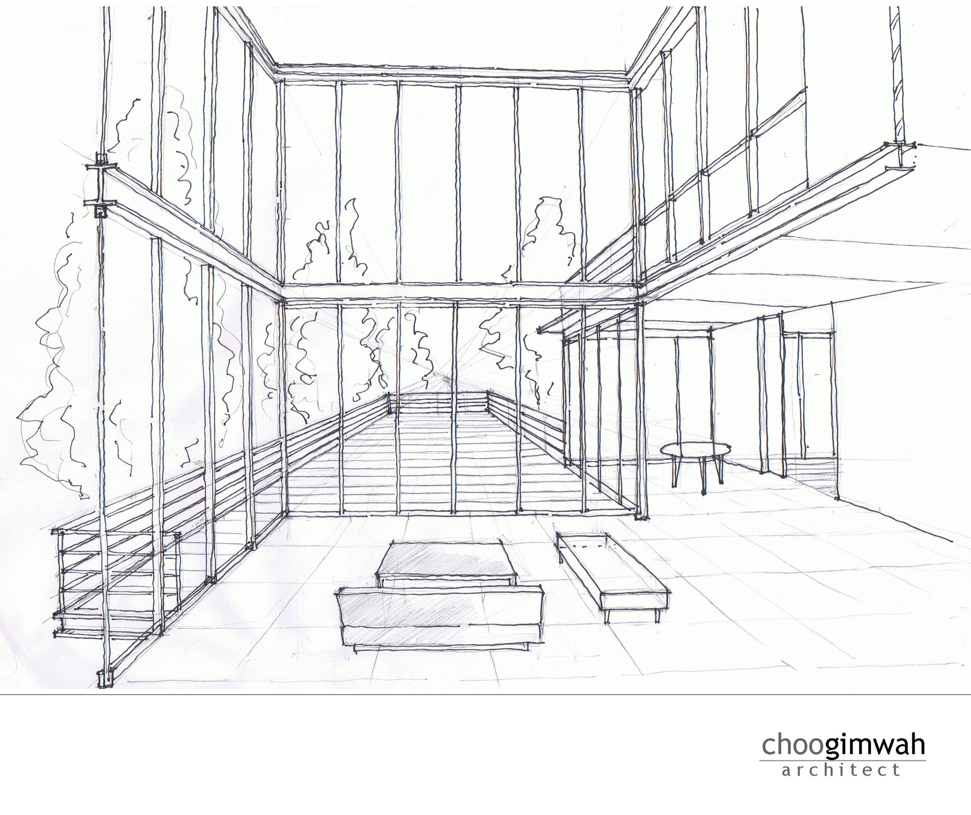 Interior Perspective Sketch