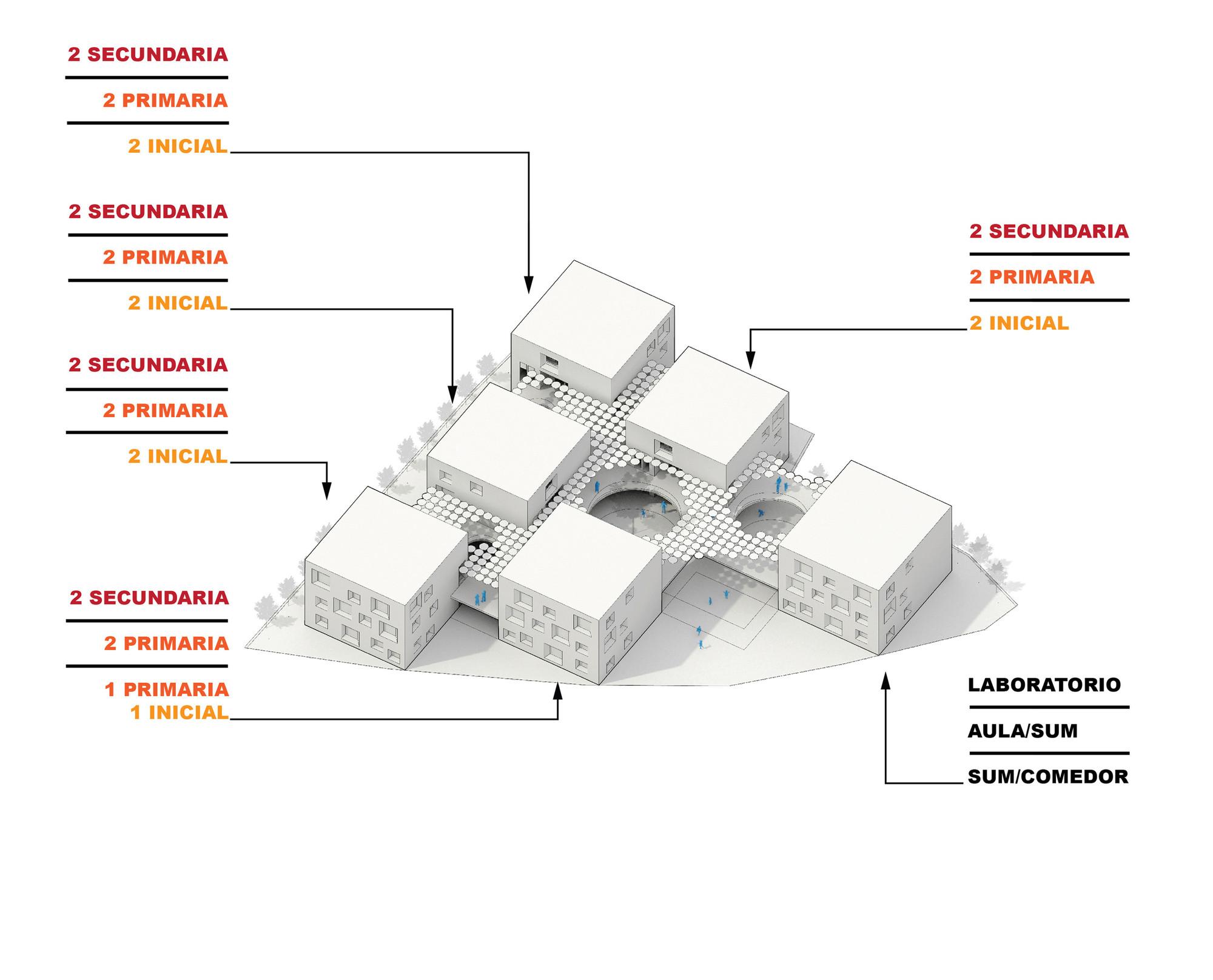 Isométrica general. Image Courtesy of MASUNOSTUDIO