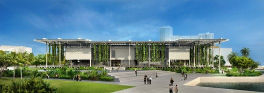 Rendering © Herzog & de Meuron. Image Courtesy of Perez Art Museum Miami