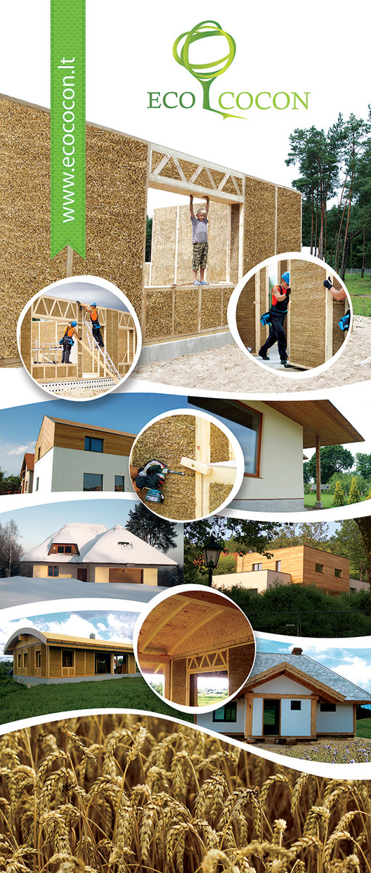 Straw Panels. Image Courtesy of Ecococon via Cradle to Cradle