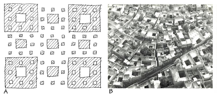 The fractal pattern of self-organizing urbanism. Image © Nikos Salingaros