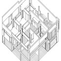 An axonometric drawing of Eisenman's House II, (1975). Image Courtesy of an-onymous.com
