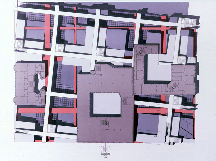 Checkpoint Charlie project (IBA) plan, Berlin (1980). Image Courtesy of an-onymous.com